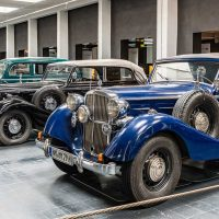 "Main hall with cars from ""Maybach Motorenwerke"", SW 38, 1938 closest: Maybach Car Museum 
